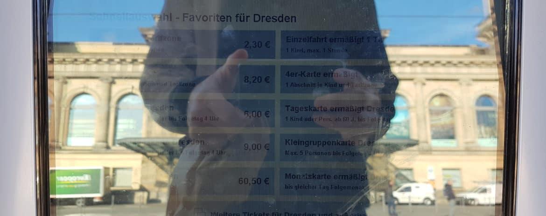 Sichtbarkeit des Display der Ticketautomaten
